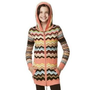 Missoni For Target Girls Zip Up Sweater NWT